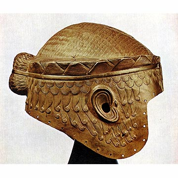 Gold Helmet of King Meskalamdug from the Royal Cemetery of Ur : LOST TREASURES FROM IRAQ (The Oriental Institute of Chicago)